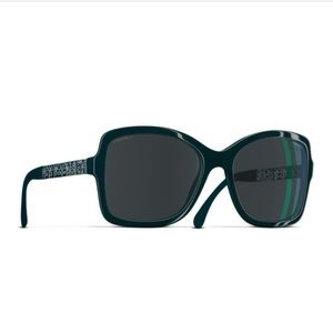 Chanel forest green sunglasses brand new 5383